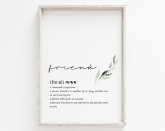 Friend Print | A3 A4 A6 | Foliage Print | Present | Home Print | Best Friend Gift