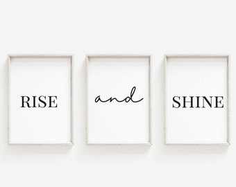 Rise & Shine - Home Print - Bedroom Prints - A6 A4 A3