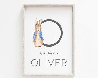 Peter Rabbit A3 A4 A6 Personalised Print