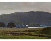 Original 1900s Antique Landscape, Harald Foss, Pastoral Scene In Virkland, Denmark, Oil Painting
