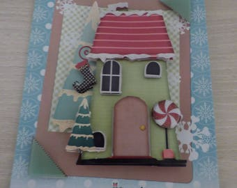 RELIEF SPECIAL CHRISTMAS HOUSE 3D CARD
