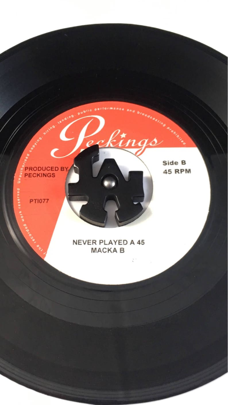 BLACK Polished 45 rpm or 7