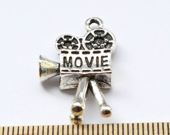 2 Movie Charms - Antique Silver - EF00163