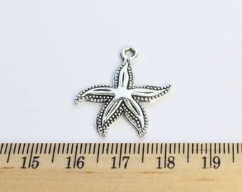 5 Starfish Charms - EF00031