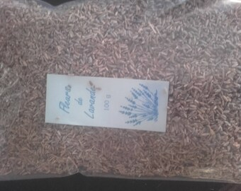 Lavender: Bag 100 g Lavender flowers-Production of Provence (Drôme)