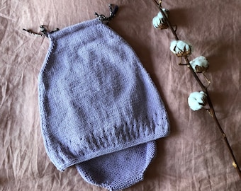 Whole dress and panties knitted cotton baby girl 6 months