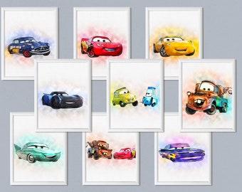 Disney Cars Room Decor Etsy