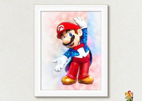Super Mario Printable Poster Mario Print Digital Download Etsy
