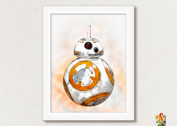 graphic about Bb 8 Printable referred to as BB8 Robotic print Very last Jedi print poster Star Wars print