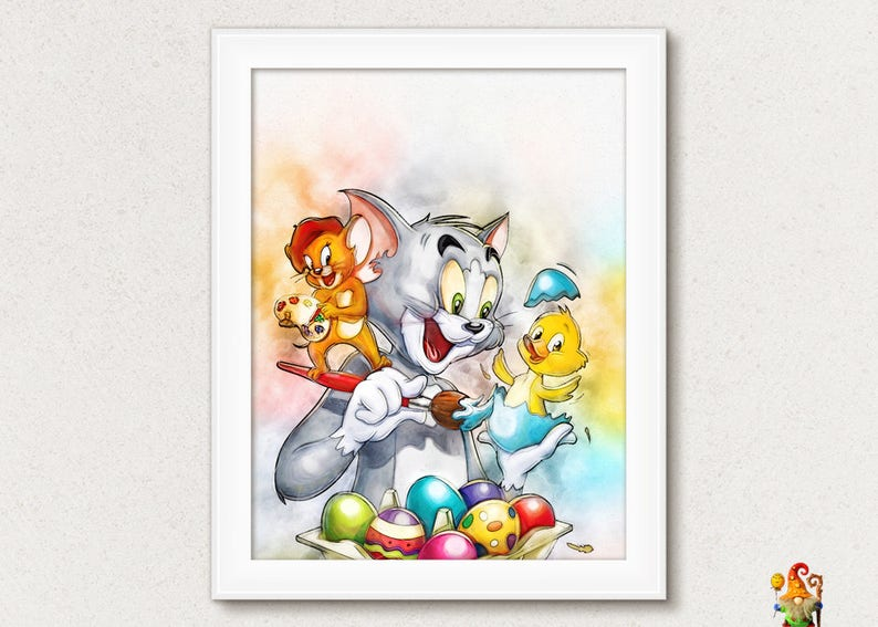 Tom And Jerry Art Tom And Jerry Cartoon Kids Posters Kids Room | Etsy