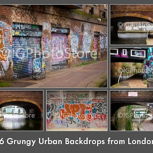 Digital Backgrounds Download Option Urban City Streets Graffiti Backdrops for Green Screen Editing and Chroma Key Photography Brick Wall Murals Photoshop Textures y