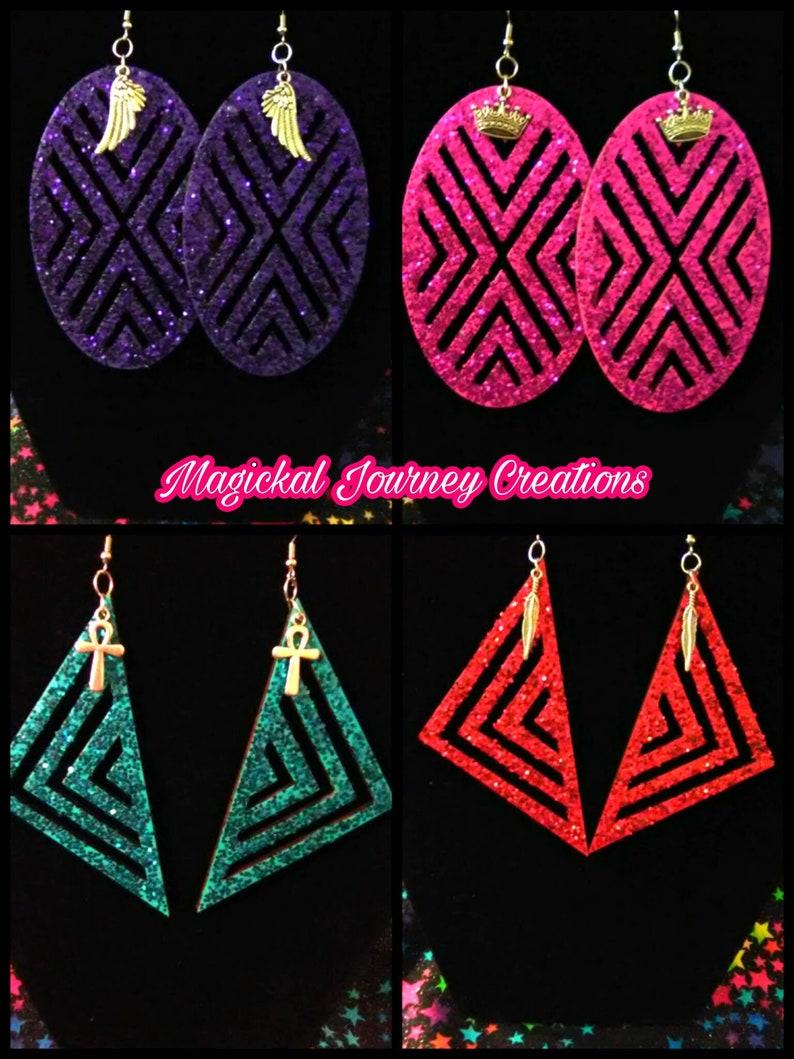 Glitter Geometric Earrings