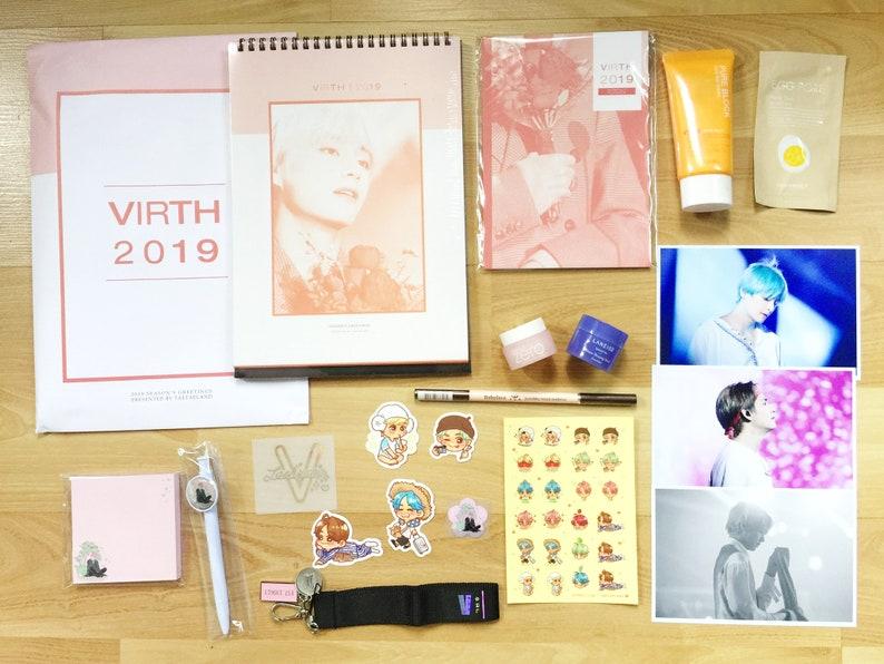 FANSITE | 방탄소년단 BTS Bangtan V Taehyung 2019 Calendar + Planner Set ++  (sealed)