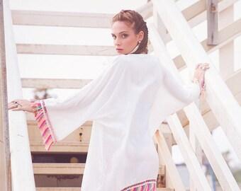 Bridal robe, bridesmaids robe, wedding robe, beach cover up, swimsuit cover up, boho,  beach wear, beach wrap, kimono robe, white cover up