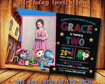 Sheriff Callie Invitation Birthday Cute Invitations Party Printable Card