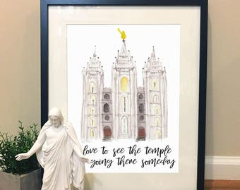 Love to see the Temple Print, LDS