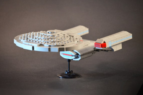 Star Trek Lego Enterprise 1701 D Tng Moc Instructions Only No Etsy