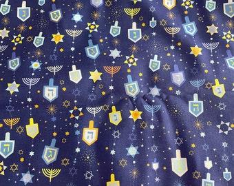 Hanukkah Fabric 1/2 yard