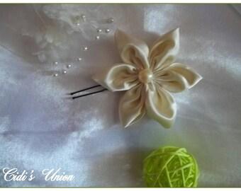 Ivory hair - wedding hair stick