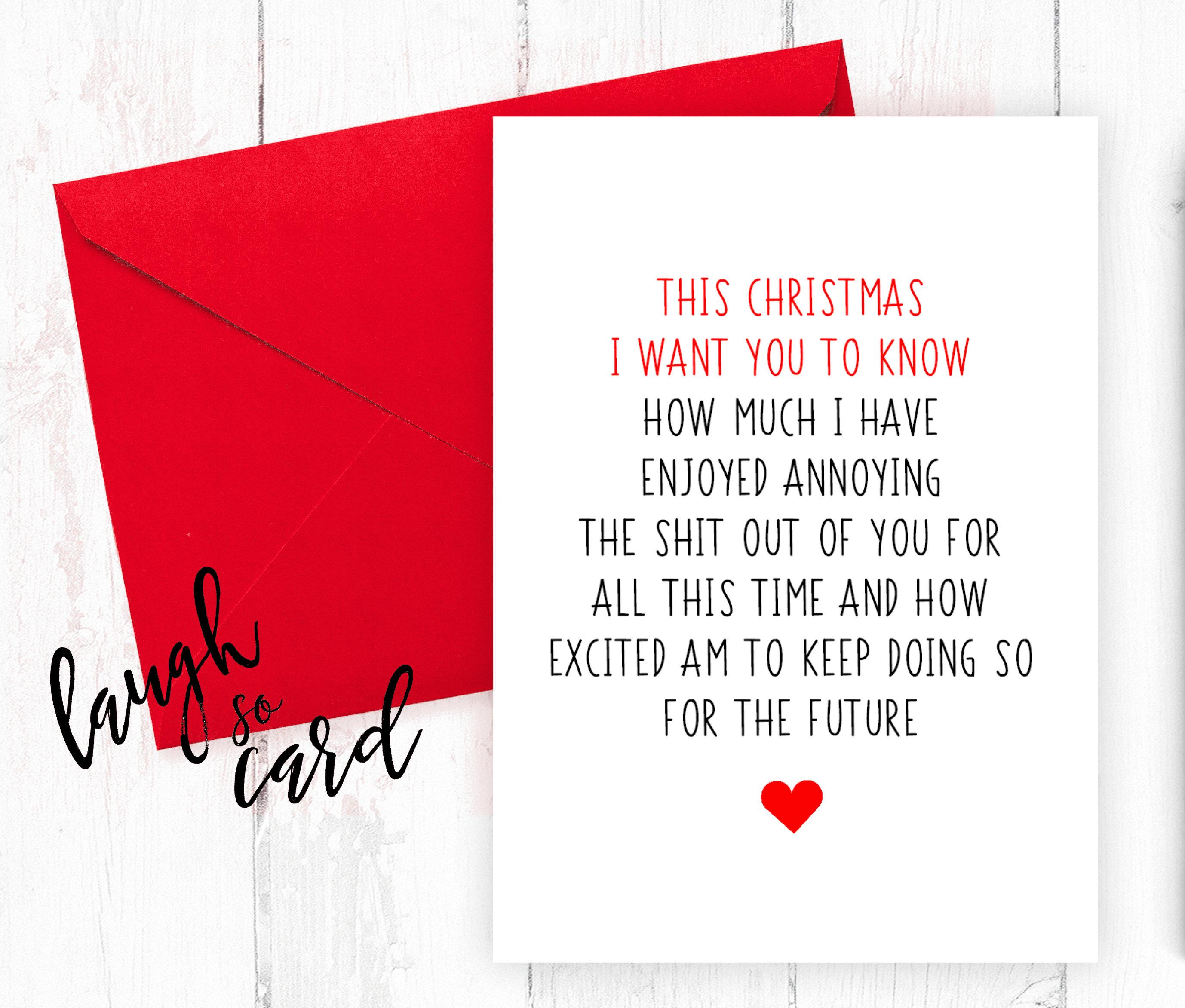 Funny Christmas Cards Christmas Cards Boyfriend Christmas   Etsy