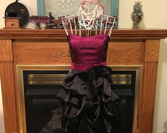 80's strapless formal dress size small