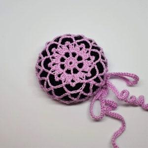 Ballerina bun cover Crocheted ballet hair bun holder Gymnastics snood Hair net Flower hair accessory Dance recital gift Gift for girl