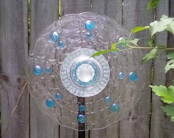 Re-purposed glass flower