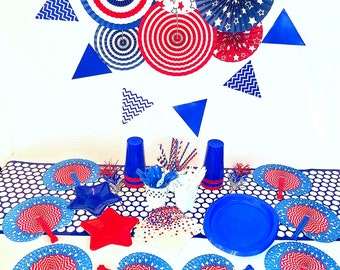 Patriotic 4th of july party supplies