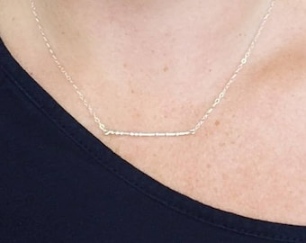 Personalized Morse Code Necklace - Simple Jewelry made from Sterling Silver - Sass for the Office