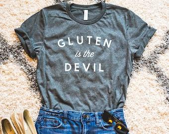 Gluten Is The Devil Shirt, Gluten Free Shirt, Gluten Free Gift, Evil Gluten Tee