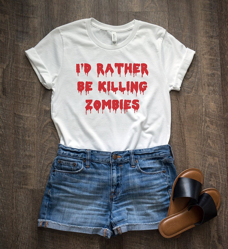 54d72ab2 This Is My Zombie Killing T-Shirt Mens Funny Halloween Top The Walking Dead  Shirts & Hemden