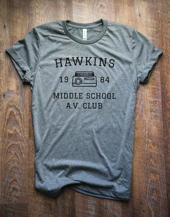 Stranger Things Shirt Hawkins Middle School Av Club Etsy