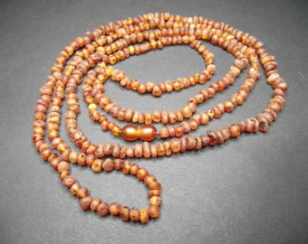 Natural Baltic Amber Necklace 120cm