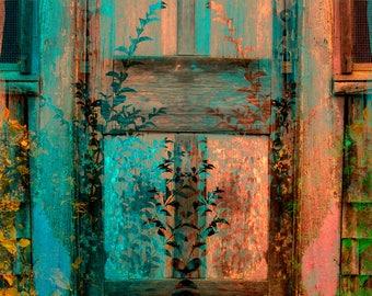 Home Decor, Wall Art, Contemporary Art, Fine Art Print, Americana, Colorful, Fine art Photography, Glicee, Door, Abstract art. Graphics
