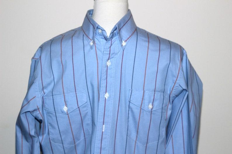 1f5003351d Man's Western Shirt Light Blue Stripe Long Sleeve 100% | Etsy