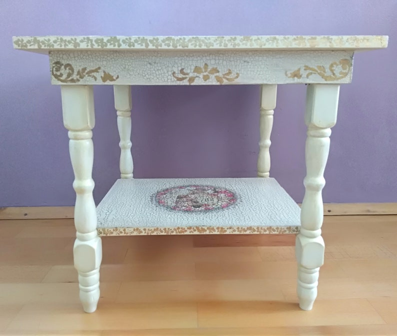 Astounding Side Table Shabby Chic Table End Table Living Room Furniture Painted Furniture Accent Table Coffee Table Wooden Table Vintage Table Home Interior And Landscaping Palasignezvosmurscom
