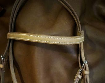 vegetable leather horse bridle