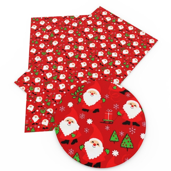 8x13 Inches Christmas Decor Design Faux Leather Sheets for Craft-Faux Leather Sheets for Earrings-Synthetic Leather for Bows Making-Synthetic Leather Fabric Sheets for Jewelry Garment Wallets Handbag