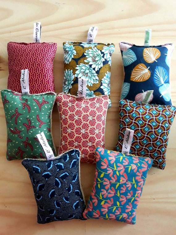 several patterns printed cotton fabric and burlap French-made sponge Washable reusable zero waste
