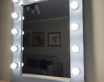 Vanity mirror with lights -  Hollywood makeup mirror - bulbs not included