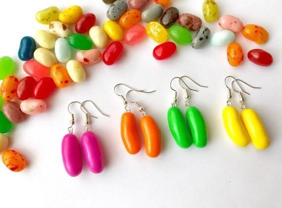 ** Jelly Bean Earrings handmade fimo sweet summer**