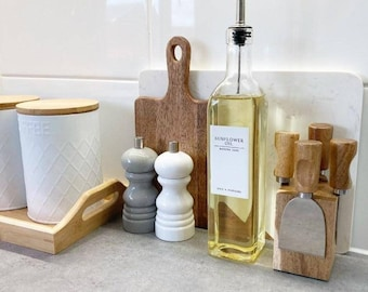 White label collection Vinegar Oil glass bottles olive, sunflower, sauce with pourer cap or classic pourer dispenser balsamic cooking