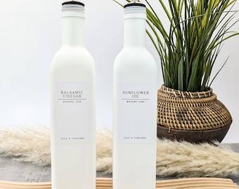 White label collection Matte white oil bottles 500ml masons jars original