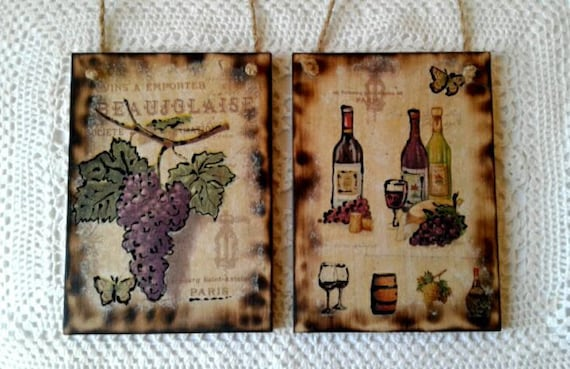 French country decor Tuscan Kitchen wall Wine French signs Wood sign For  kitchen Wine sign for bar decor wood wall art Mediterranean decor