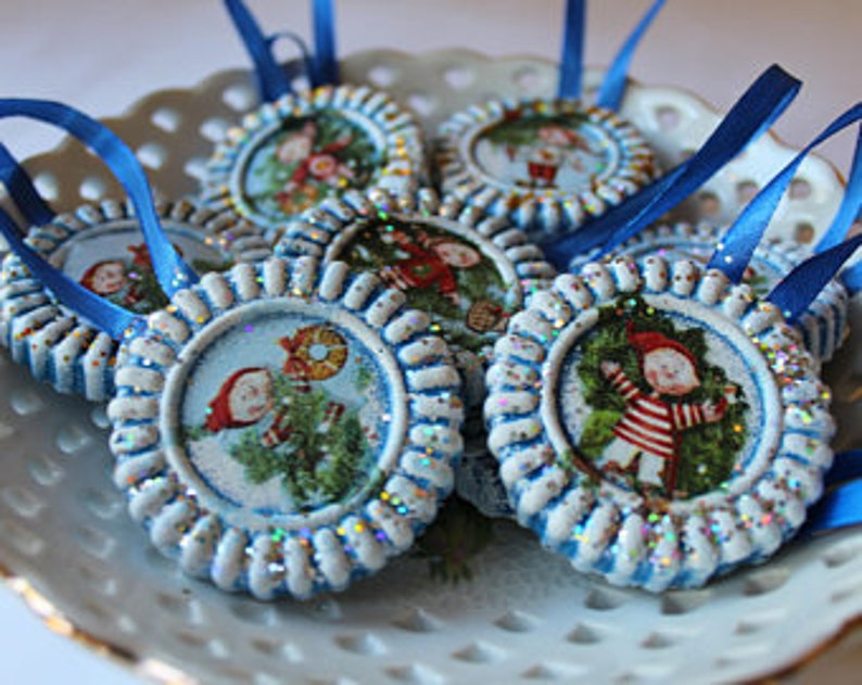 Christmas ornament tree Blue Decorations Holiday Party Decor Christmas gift for coworker Classmates Thank you men Merry Xmas small gift idea