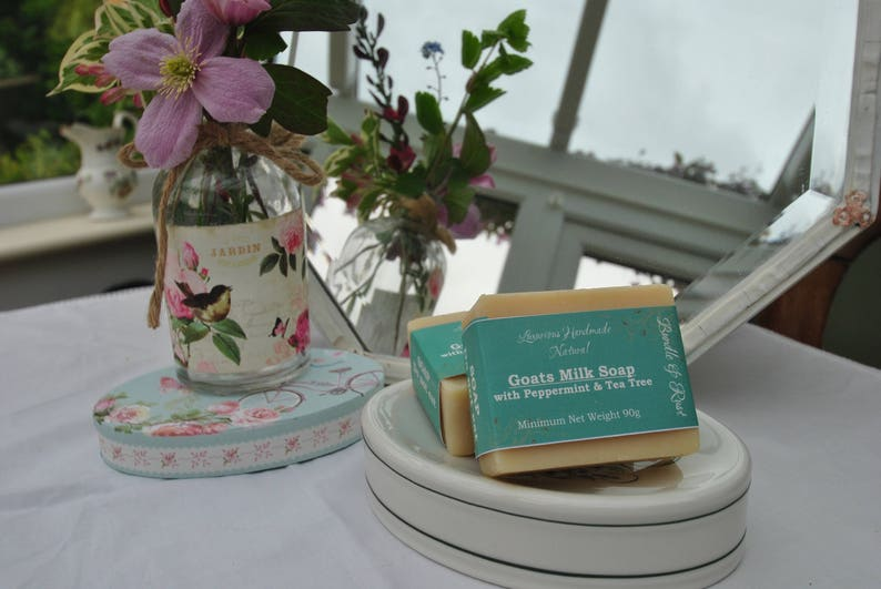Goats Milk Soap with Peppermint & Tea Tree image 0