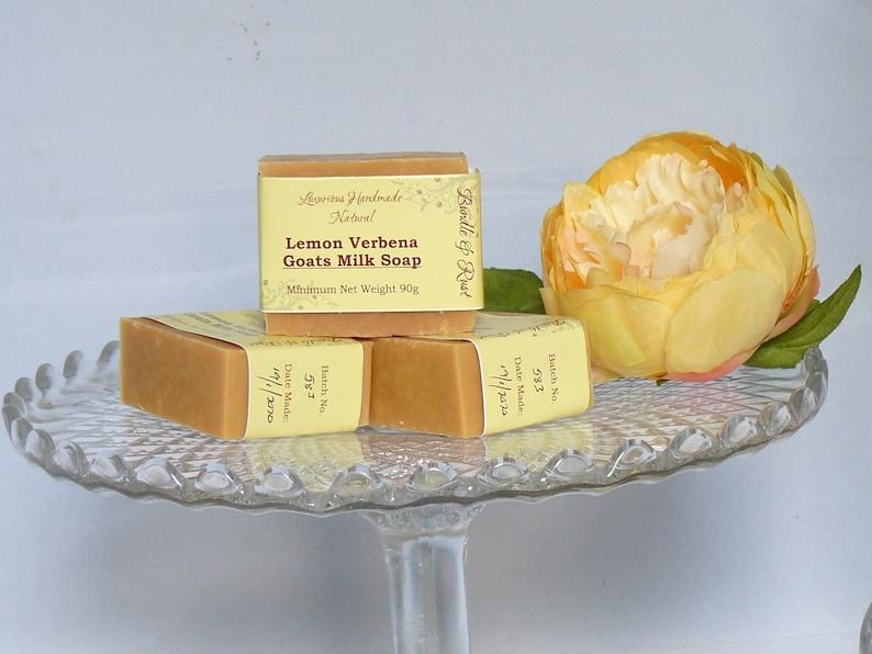 Lemon Verbena Goats Milk Soap image 0