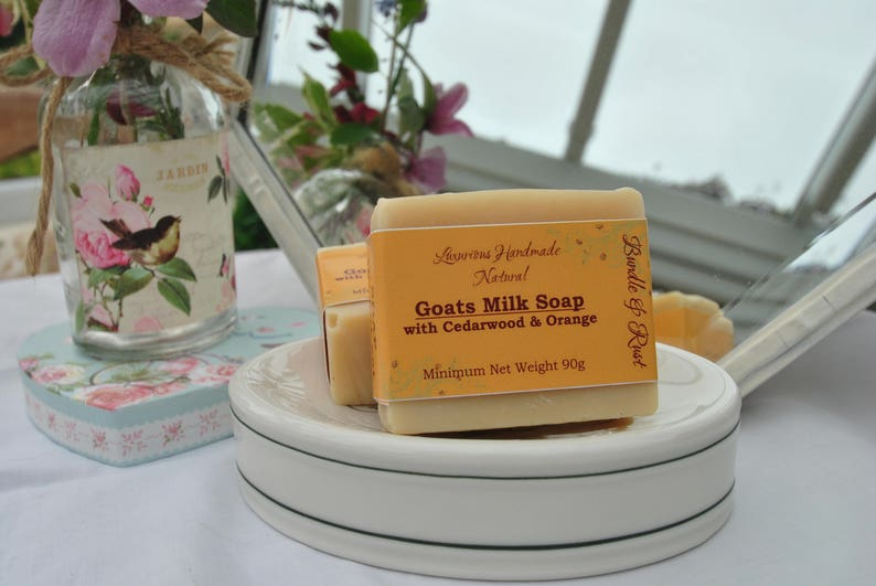 Goats Milk Soap with Cedarwood & Orange image 0