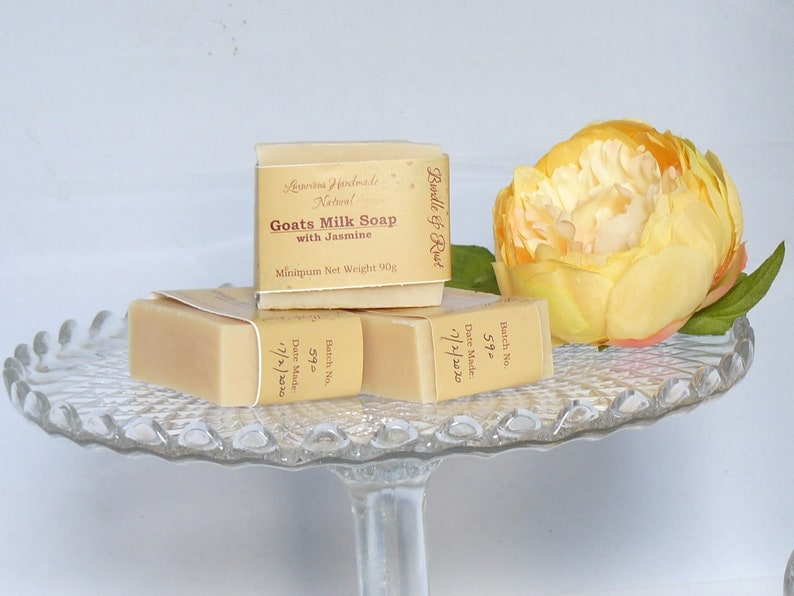 Goats Milk Soap with Jasmine image 0