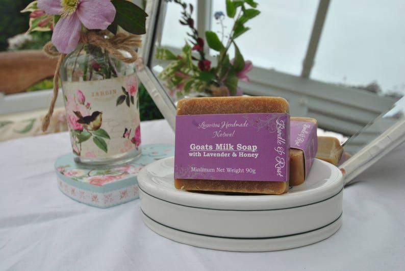 Goats Milk Soap with Lavender & Honey image 0